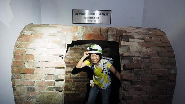 というわけで下水道へ潜入! なんと煉瓦製だ。