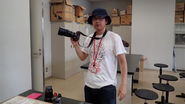じゃーん。すげえカメラを持ってきた伊藤さん
