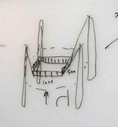 提案時、ホワイトボードに描いた図。まさか本物になるとは…