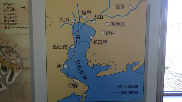 濃尾平野のほとんどが海だった