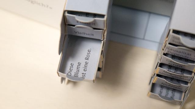 引き出しの中にはその認識の形式の例文が書いてある。