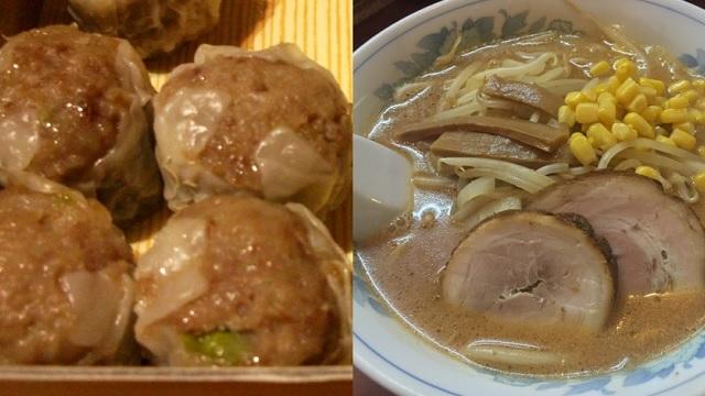 味噌溶き系のヒントになった、崎陽軒のシウマイと札幌ラーメン(写真はイメージです)