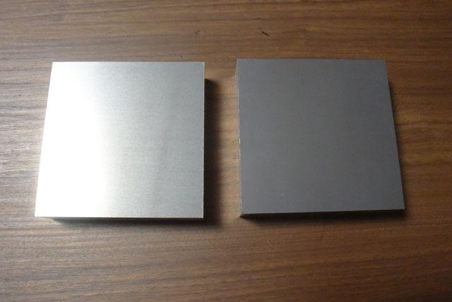 このジュラルミンという金属を削る。