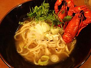 ザリガニ独特のダシがちゃんと出て、なかなかおいしいスープになった。