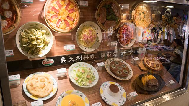 サンプルの料理を見てもほとんど日本と同じようにしか見えない