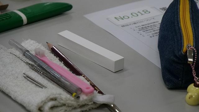 歯は石膏棒というものに彫る。まったく知らないものが出てきた