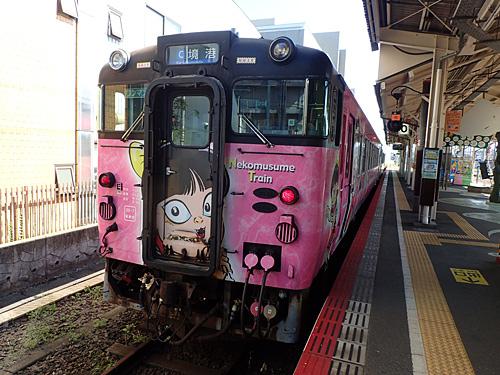 米子駅はゲゲゲの鬼太郎押しでした。