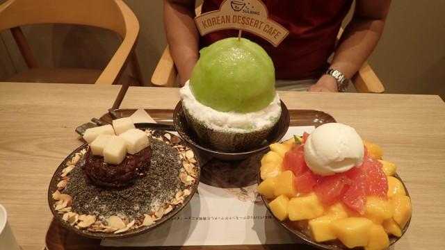 韓国式かき氷「ハッピンス」を出す原宿の「ソルビンカフェ」も行列店として有名(写真はこちらの記事</a>より)