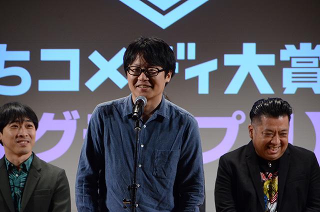 ©「したまちコメディ映画祭in台東」実行委員会 監督でもない人がスピーチするというなぞの時間がもうけられた
