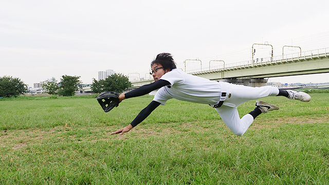 そして、野球をしているように見えるのです!