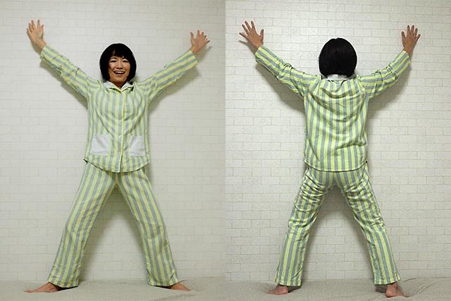 少しでも癒し系にしたかったのでパジャマで撮影。