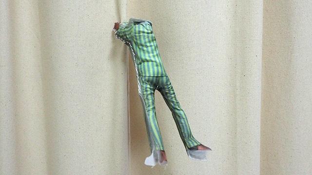 途中から縫い方が雑になりつつ胴体完成。あれ……カエル?!