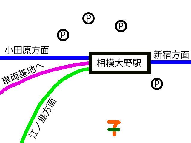 相模大野駅の詳細図