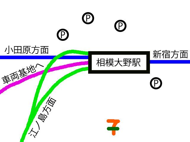 相模大野駅の詳細図(修正版)