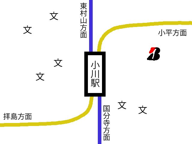 小川駅の詳細図