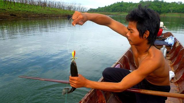 田舎で平和な魚釣り…のはずだったんだけどなぁ