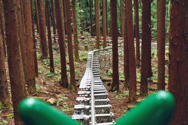 さっき通った登り線と合流