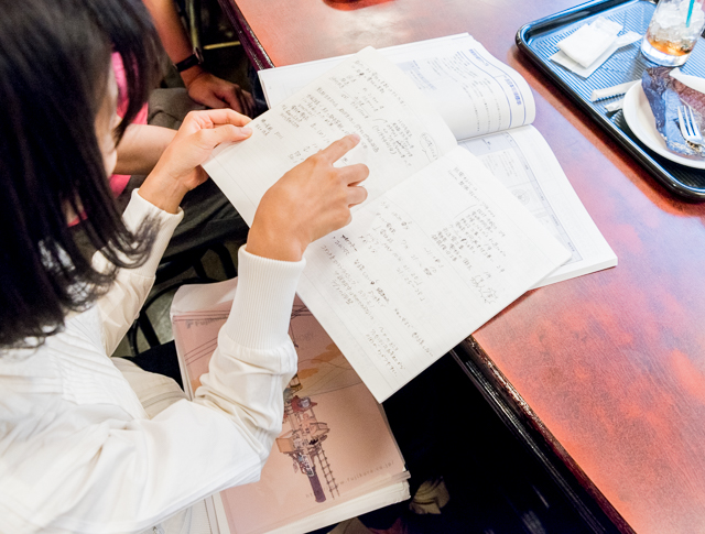 さらに、メーカーさんの研修に参加(!)した際にとったノートも見せてもらいました。勉強熱心! 見習いたい。
