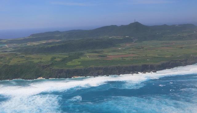 台風一過の与那国島。
