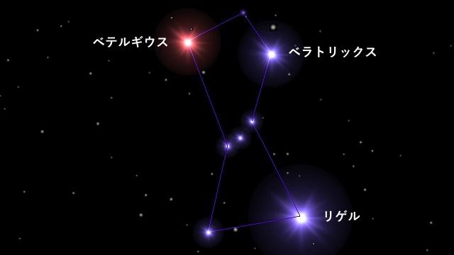 オリオン座の形(簡易版)
