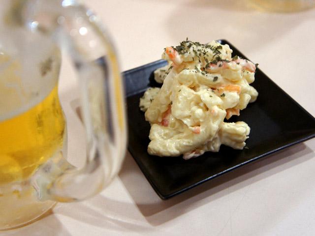 大人のマカロニサラダ(220円)