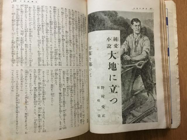 純愛小説『大地に立つ』サブタイトルが「空腹を抱いて」