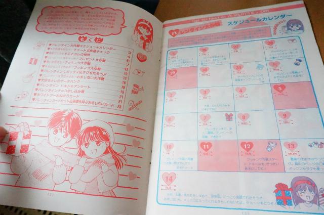 文字が続くのでふろくの写真を。バレンタインまでの予定が勝手に書かれた、スケジュールカレンダー。