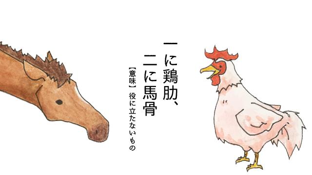 馬の骨とは、鶏の肋骨と並んで中国で役に立たないものの代表として使われた言葉らしい