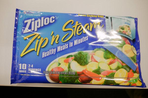 健康的な食事が数分で作れるらしいジップロック/購入者:編集部 橋田さん