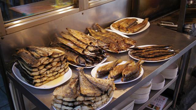 ソウルの焼き魚通り