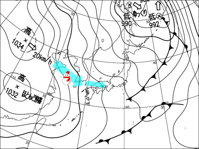 2013年11月29日。気象庁天気図。