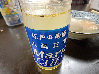 日本酒とおでんの汁。美味しいに決まっている。