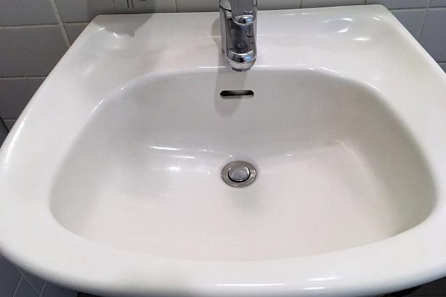 洗面所のボウルに洪水吐がある