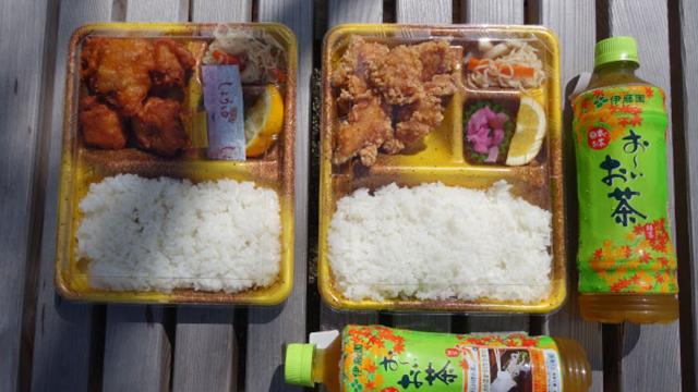 静岡で有名なお弁当どんどんのから揚げ弁当を、東京から2名で食べに行きました。から揚げはしっとりして旨いそう。