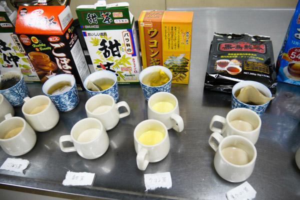 ごぼう茶、ウコン茶は色付きがいい