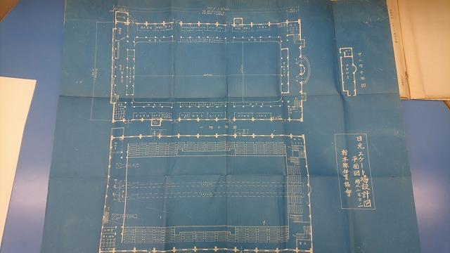 こちらが当時のスケート場設計図(日光ニ於ケル冬季オリンピック施設計画書(栃木県)より)