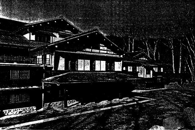 国際的なホテルとしては珍しい、純木造製(近代日本の国際リゾート 砂本文彦 青弓社より)