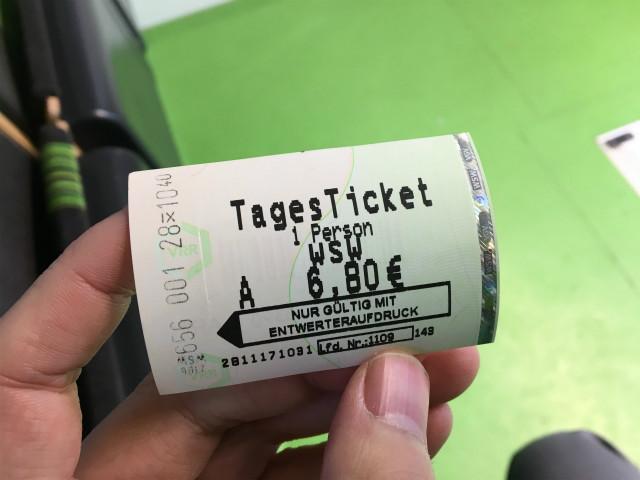 一日乗車券(たぶん)