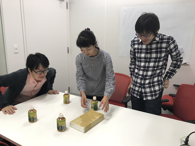 左から編集部の藤原さん、橋田さん、石川さん。