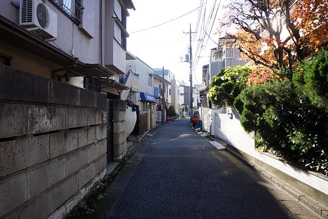 一見普通の住宅街。しかし左の並びを追っていくと、なんだか縮尺の明らかにおかしいヤツが・・・