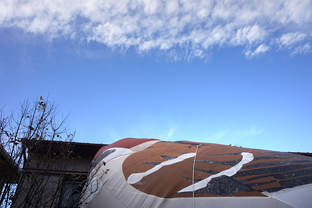 この日は青空で無風。本当に晴れてよかった。雨天強風だと中止になるのです。