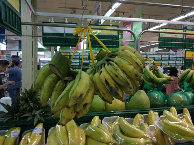 モンキーバナナ。手に収まるサイズでかわいいかも。