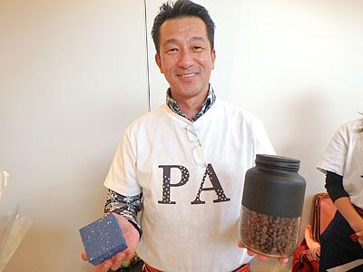 深江社長。物腰穏やかな大阪商人でした。
