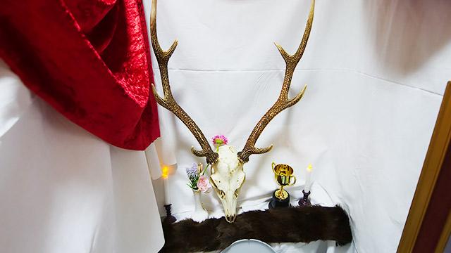 タンクには鹿の頭蓋骨!