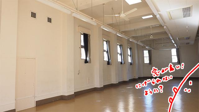 留置所として使われていたという部屋。この建物自体も見ごたえがある。
