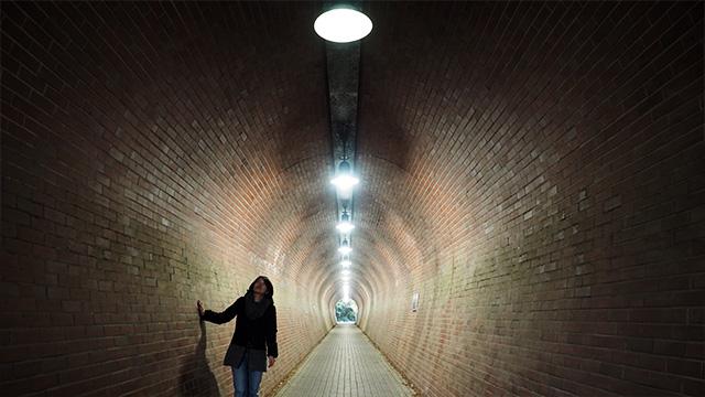 馬の蹄みたいな形のトンネル。雰囲気あるなあ。