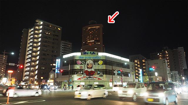浜松のどこからでも見えるアクトタワー。浜松の駅前にあるので目印に良い。