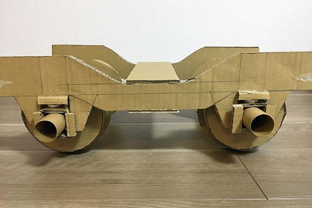 これが僕が初めて作った台車だ