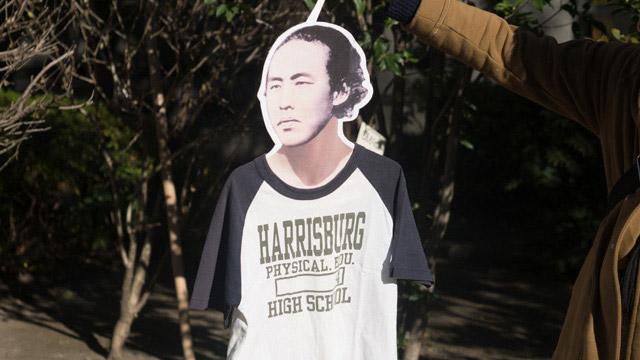 「ハリスのTシャツぜよ。」