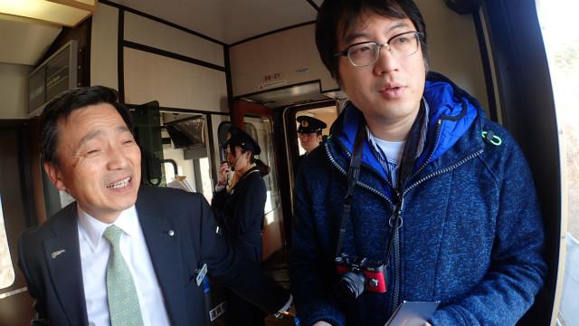 三陸鉄道の中村社長直々にご説明賜った